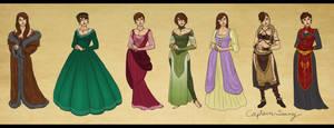 Alora Trevelyan Outfits by Captain-Savvy