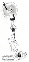 INKTOBER '16 #14 - Eh, b-b-b-b-big deal by Clockchat
