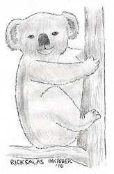 INKTOBER '16 #16 - Must..Resist...Ink-Koala Pun... by Clockchat