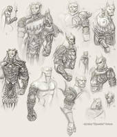 Todi Armor Sketch Page by Kipestshin