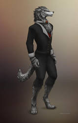 Formalwearwolf (Happy Halloween 1) by Kipestshin