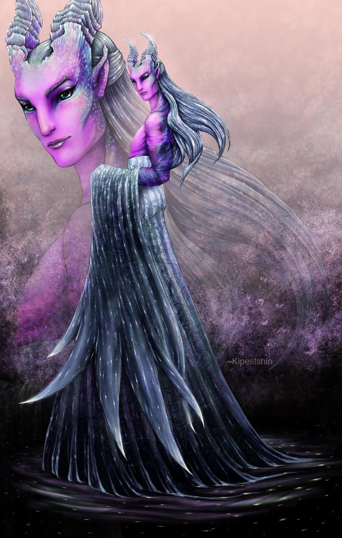 Pink Galaxy Demon (Happy Halloween 3) by Kipestshin