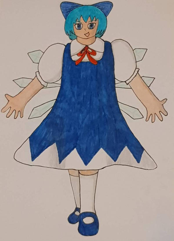 Cirno from Touhou by Shadarot