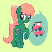 Commission : Train pony by Looji