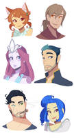 Forgotten characters by Looji
