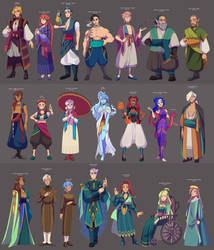 Character designs by Looji