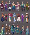 Character designs by Looji