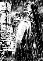 batman in the rain by Geniss