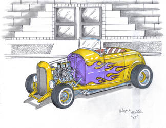 yellow 32 chevy by waynemiller-jr