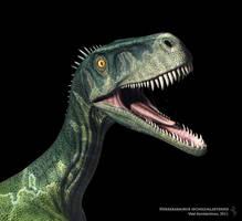 Herrerasaurus close up by Swordlord3d