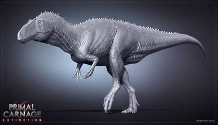 Acrocanthosaurus. Primal Carnage. WIP by Swordlord3d