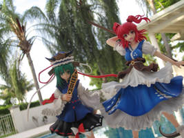 Griffon Komachi and Shikieiki by MirmirArt