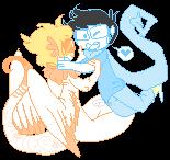 Pixel Flying Lovers by Jaziziplz