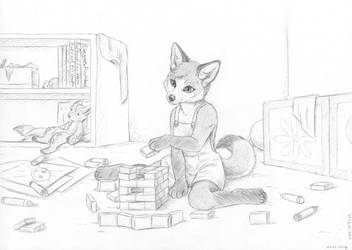 Play Time - Sketch Commission by PanHesekielShiroi by LuckyLucario