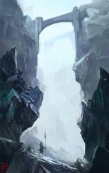 Bluee hills and rocks by RaV89