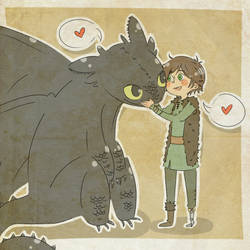 a boy and his dragon by Piratenkoenigin