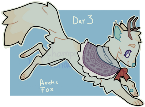 Advent Day 3: Arctic Fox by ChampiVenao