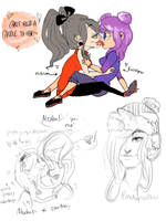 My Ocs And Their Ocs by temporaryWizard