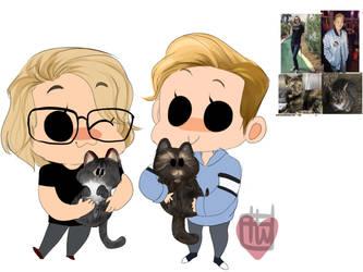 Kristopher Mini cheeb plus 2 mini cats by temporaryWizard