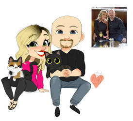 Brandy Lang Couple Plus 2 Cats by temporaryWizard