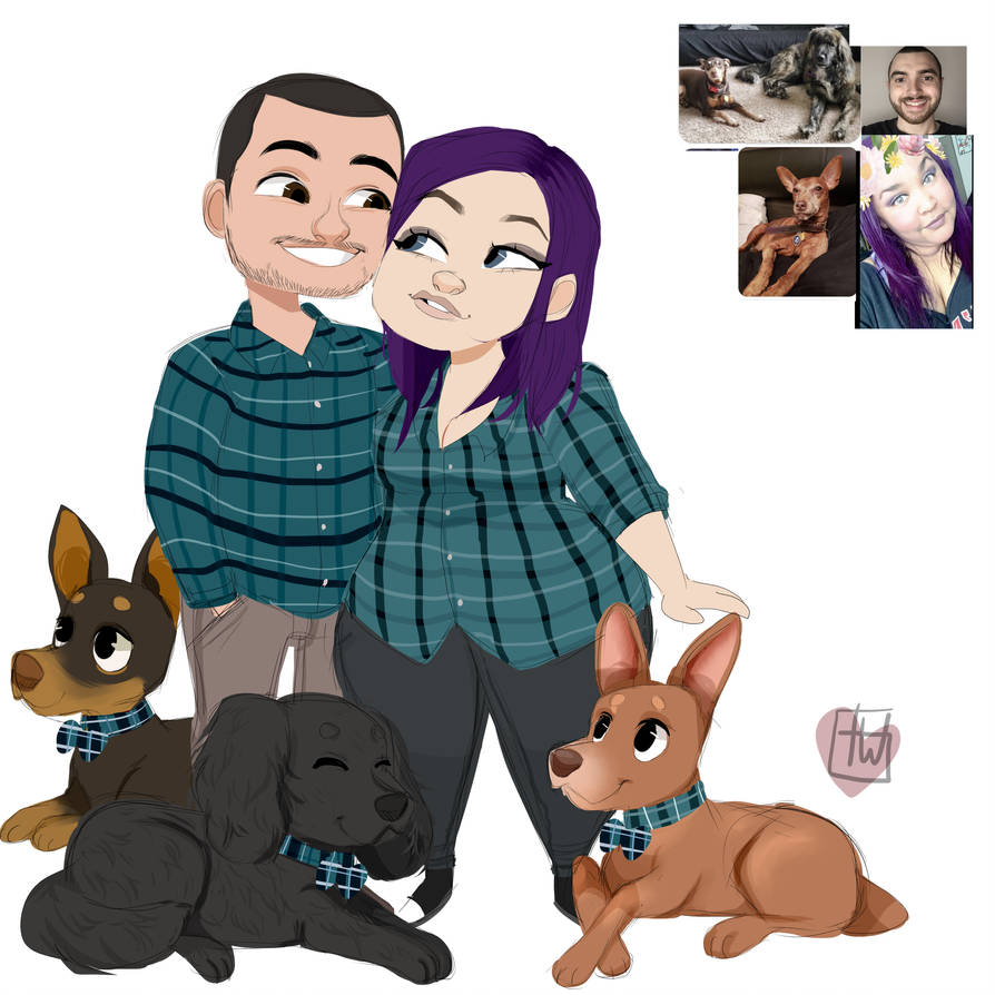 Wicked Wednsday Chibi Fam Set commission by temporaryWizard