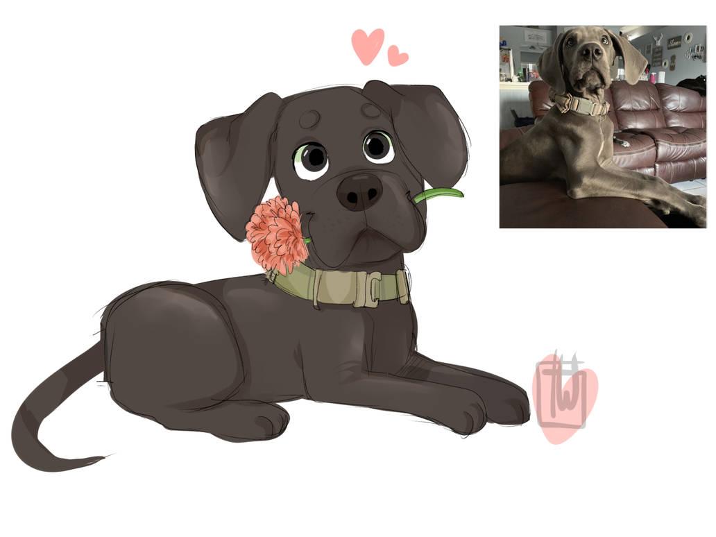 Mommawiso Chibi Dog by temporaryWizard