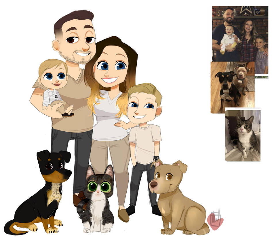 Lisaclarre Fam Chibi commission by temporaryWizard
