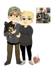 Breannaray18 Chibi Couple Plus Dog by temporaryWizard