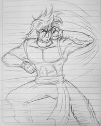Isao practice his kung-fu  #anime #concpet #orgina by Jia-Horizon-Artworks
