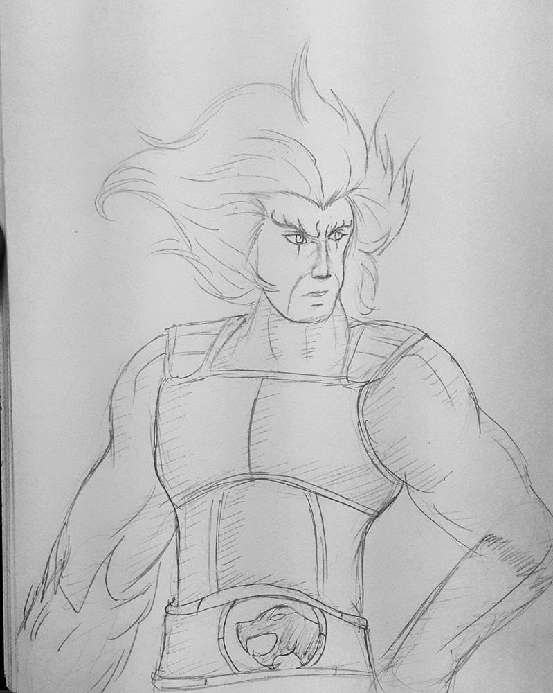 Fast sketch for Lion-O from Thundercats by Jia-Horizon-Artworks