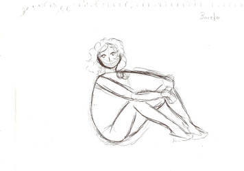 The sketch of a girl by Ojohopo