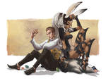 Fran and Balthier - April by nefgoddess