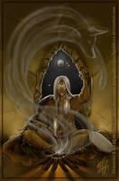 Wolf God of the Spirits by nefgoddess