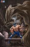 Pinup Blue Demon 2 by aladecuervo