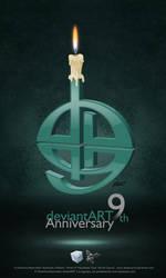 My 9th version logo by aladecuervo