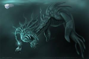 Aquatic predator WIP by aladecuervo