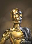 C-3PO Tributo a Star Wars by aladecuervo