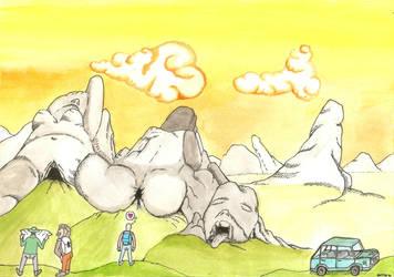 Dilemma in obscene landscape by adambkubik