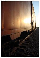 Train Car Sunset by DmanLT21