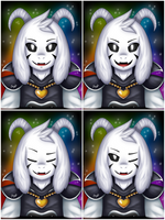 Some Asriel Dreemurr's Expressions by Jany-chan17