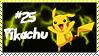 Number 25 Pikachu Stamp by Princessdawn755
