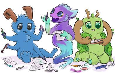Little creators by PLazmodon