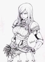 Scarlet Erza -Fairy Tail- (ink) by Salaiix