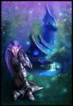 Night Elf Warrior - Andromeda by cosmosue