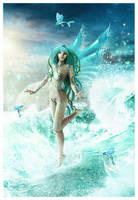 Dance of the Sea Fairy by cosmosue