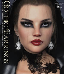 Gothic Earrings for G8F by cosmosue