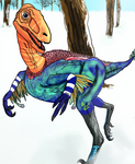 Troodon's Winter Stroll by Asuma17