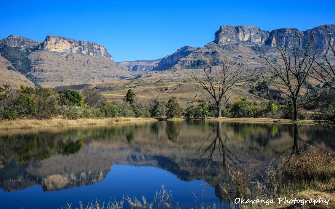 Lake Reflections, Royal Natal National Park by Okavanga