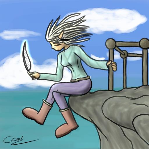 L'elfe de PlumeBlanche by ArkanaStrife