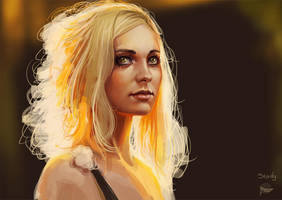 study portrait by Leventart